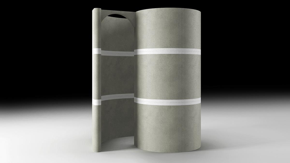 Doccia a chiocciola autoportante modulare - La Veneta Forme