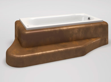Bathtub with integrated step