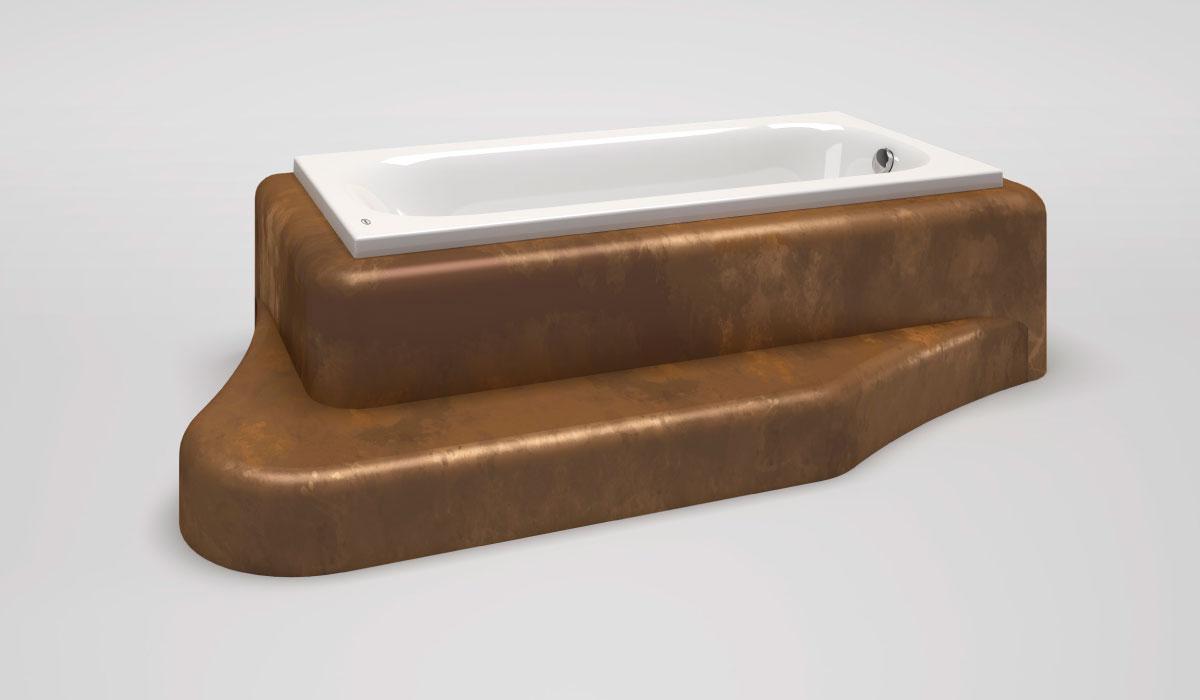 Pannelli per vasca con gradino - La Veneta Forme